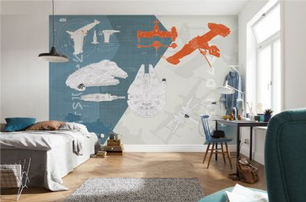 Wall mural wallpaper STAR WARS Technical Plan